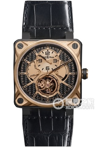 Copy Bell & Ross BR 01 TOURBILLON Series BR 01 TOURBILLON pink guld & TITANIUM ure [eef4]