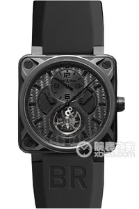 Copy Bell & Ross BR 01 TOURBILLON Series BR 01 Tourbillon PHANTOM ure [c7d7]