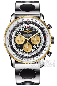 Copy Astronaut Breitling watches (COSMONAUTE) series stainless steel and 18K gold case - black dial -Air Racer air contest stainless steel strap watches [0f3a]