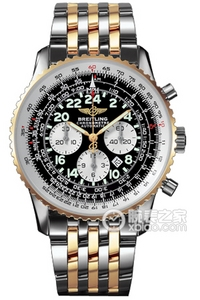 Copy Astronaut Breitling watches (COSMONAUTE) series stainless steel and 18K gold case - black dial -Navitimer aviation steel bracelet watches [7b3c]