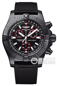Copy Breitling dive Seawolf Chronograph (AVENGER SEAWOLF CHRONO) Series black steel case - limited edition yellow needle -Diver Pro rubber strap dive watches [a874]