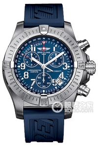 Copy Breitling dive Seawolf Chronograph (AVENGER SEAWOLF CHRONO) series stainless steel case - Blue Dial -Diver Pro rubber strap dive watches [8d2f]