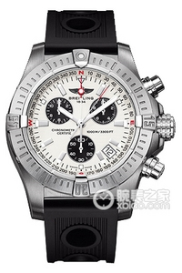 Copy Breitling dive Seawolf Chronograph (AVENGER SEAWOLF CHRONO) series stainless steel case - clouds silver dial -Ocean Racer rubber strap watch ocean race [a45c]