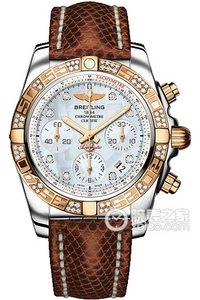 Copy 41 Mechanical Chronograph Breitling watches (CHRONOMAT 41) Series CB0140AA-A723 ( lizard leather strap ) watches [8993]