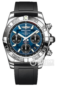 Copy 41 Mechanical Chronograph Breitling watches (CHRONOMAT 41) Series AB014012-C830 (Diver Pro rubber dive strap ) watches [c653]