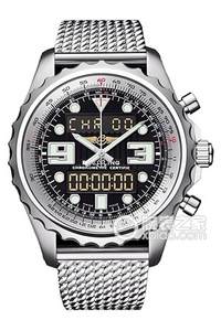Copy Space Breitling chronograph series stainless steel case - black dial -Pilot Pilot bracelet watches [6291]