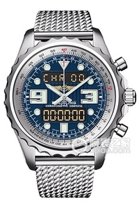Copy Space Breitling chronograph series stainless steel case - Blue Dial -Pilot Pilot bracelet watches [db45]