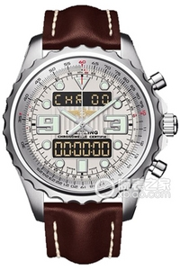 Copy Space Breitling chronograph series stainless steel case - Cloud Silver Dial - calfskin strap watches [3226]