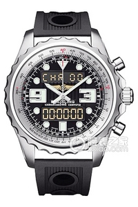Copy Space Breitling chronograph series stainless steel case - black dial -Ocean Racer rubber strap watch ocean race [dfbc]