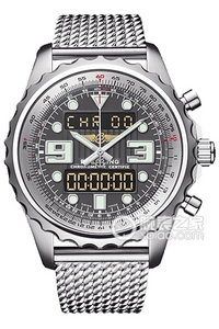 Copy Space Breitling chronograph series stainless steel case - tungsten gray dial -Pilot Pilot bracelet watches [cdf2]