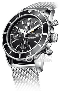 Copy Breitling Super Ocean Chronograph 44 watch culture (SUPEROCEAN HÉRITAGE CHRONOGRAPHE 44) series stainless steel case - black dial -Ocean Classic bracelet watches [7e0a]