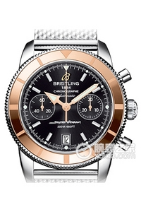 Copy Breitling Super Ocean Chronograph 44 watch culture (SUPEROCEAN HÉRITAGE CHRONOGRAPHE 44) series rose gold stainless steel case - black dial -Ocean Classic bracelet watches [3ed4]