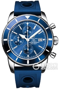 Copy Breitling Super Ocean Chronograph Culture (SUPEROCEAN HÉRITAGE CHRONOGRAPHE) series stainless steel case - metallic blue dial -Ocean Racer rubber strap watch ocean race [10fe]