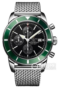 Copy Breitling Super Ocean Chronograph Culture (SUPEROCEAN HÉRITAGE CHRONOGRAPHE) series stainless steel case - black dial -Ocean Racer rubber strap watch ocean race [65be]