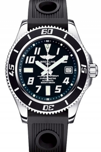 Copy Breitling Super Ocean 42 watch (Superocean 42) series stainless steel case - black dial -Diver Pro rubber strap dive watches [9fde]