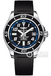 Copy Breitling Super Ocean 42 watch (Superocean 42) series stainless steel case - black dial silver inner ring - Professional stainless steel bracelet watches [5960]