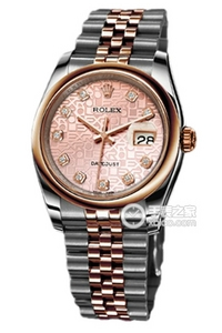 Copy Ladies Rolex Datejust 36 Series 116201 pink plate diamond-studded watches [21c0]
