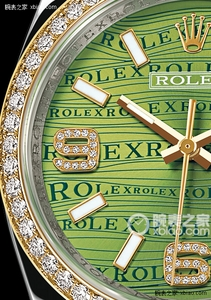 Copy Ladies Rolex Datejust 36 series 116243-72603 green flower pattern Dial Watches [eecf]