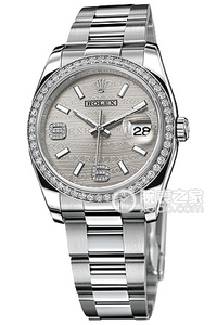 Copy Ladies Rolex Datejust 36 series 116244-63600 silver flower pattern Dial Watches [933a]
