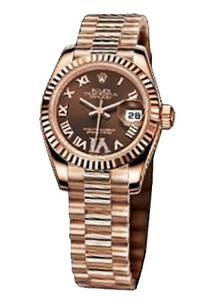 Copy Ladies Rolex Datejust 179.175 Chokolade Dial Watch Series [f516]