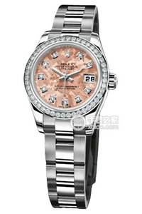 Copy Ladies Rolex Datejust watches Series 179384 pink plate [ee62]
