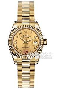 Copy Rolex Datejust Ladies Series 179 178 11 time scale VI inlaid ruby watches [55bd]