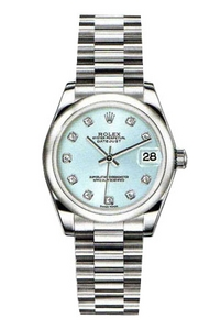 Copy Ladies Rolex Datejust 31 mm Serie 178 246 is blå diamant ure [486e]