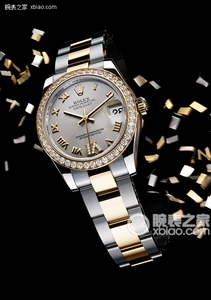 Copy Ladies Rolex Datejust 31 mm Serie 178 248 sort mønster perlemorsurskive ure [ef6e]