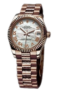 Copy Ladies Rolex Datejust 31 mm Series 178275 white mother of pearl dial watches [ceb5]