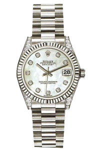 Copy Ladies Rolex Datejust 31 mm Series 178279 Silver Dial Watches [5ea5]