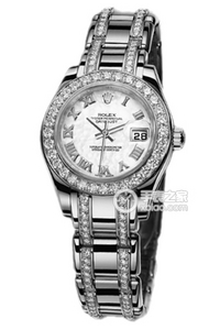 Copy Ladies Rolex Datejust Ladies Pearl Series 80299 white mother of pearl watches [638e]