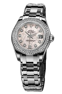 Copy Ladies Rolex Datejust series 80339 pink pearl ladies watch mother of pearl [bb63]
