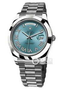 Copy Rolex Day - Date II Series 218 206 ijsblauw plaat diamanten horloges [12a1]