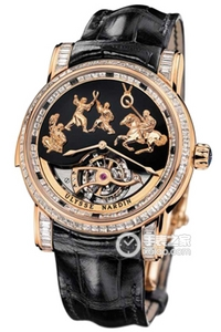 Copy Genghis Khan asked Ulysse-nardin four hammer three diamond watch watch series 786-82 [7167]