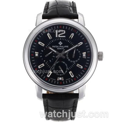 Patek Philippe Classic Automatic with Black Dial-Leather Strap [08c6]