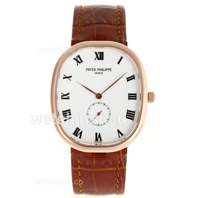 Patek Philippe Classic Rose Gold Case Roman Markers with White Dial-Sapphire Glass [1bd5]