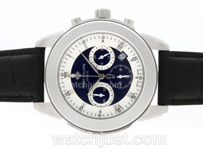 Patek Philippe Classic Working Chronograph with Blue Dial-Roman Marking [3dda]