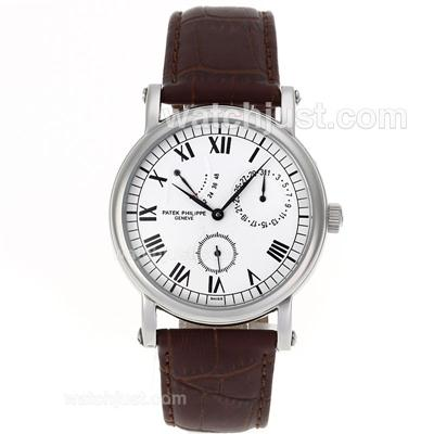 Patek Philippe Classic Working Power Reserve Automatic with White Dial [574d]