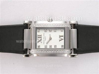 Patek Philippe Ref.4910 Swiss ETA Movement Diamond Bezel and Marking with White Dial Lady Model [0e27]