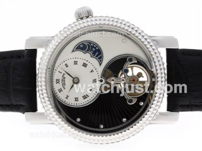 Patek Philippe Tourbillon Automatic SS Case with Leather Strap [b0e4]