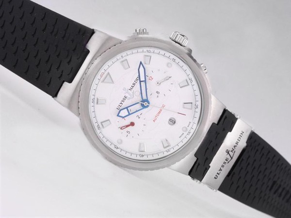 Ulysse Nardin Watch Le Locle Suisse Chronograph Automatic with White Dial [88b0]