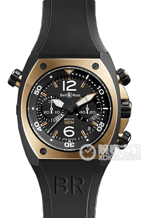 Copy Bell & Ross BR 02-94 CHRONOGRAP HE serien BR 02-94 PINK GOLD & CARBON ure [900f]