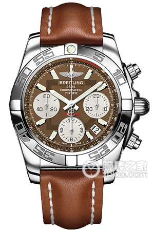 Copy 41 Mechanical Chronograph Breitling watches (CHRONOMAT 41) Series AB014012-Q583 (Barenia leather strap ) watches [c7b8]