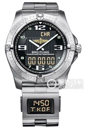 Copy Aerospace Breitling Chrono (AEROSPACE) Series E79362 volcanic black dial - professional titanium bracelet ( with flight assisted small watches ) watches [1a99]