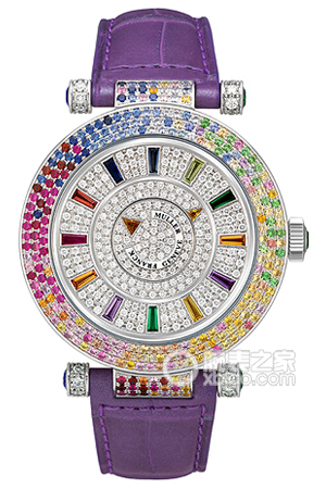 Copy Franck 4 SAISONS Series 42 DM 4 SAI D3R CD lilac strap watches [1e43]