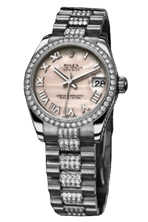 Copy Ladies Rolex Datejust 31 mm Series 178286 Pink Mother of Pearl Dial Watches [cde5]