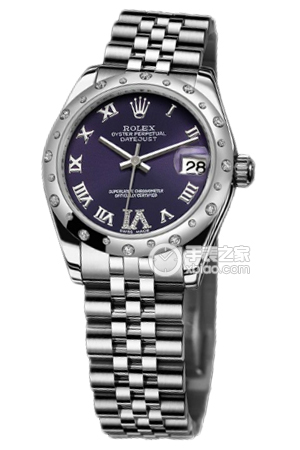 Copy Ladies Rolex Datejust 31 mm Series 178344 purple plate diamond watches [8f57]