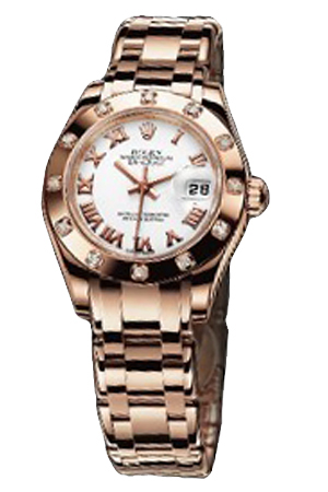 Copy Ladies Rolex Datejust Ladies Pearl Series 80315 White Dial Watches [1583]