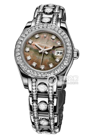 Copy Ladies Rolex Datejust Ladies Series 80309BR black pearl mother of pearl diamond watches [d2b4]
