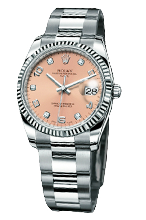 Copy Ladies Rolex Datejust Model Series 115234 pink plate special diamond-studded watches [cb29]